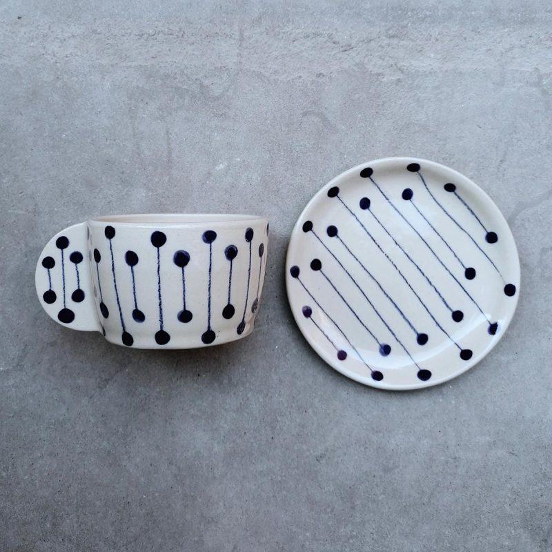 bifranci ceramica bologna tazzine caffè e piattino